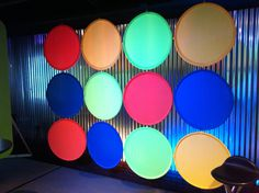 colored shapes across whole backdrop