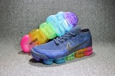 promo code 2dd5f e75f3 Nike Air VaporMax Flyknit Deep Royal Blue Concord-White Men s Running Shoes  Training 883275
