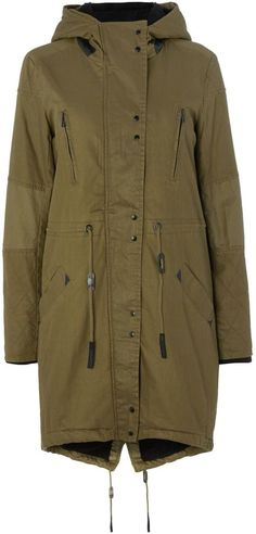 Y.A.S. Long hooded parka jacket