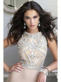 A-line/Princess Scoop Sweep/Brush Train Sleeveless Beading Sequin Chiffon Tulle Dress - Prom Dresses