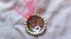 """Pendentif capsule de canette """"Carnaval de Venise"""" : Pendentif par tine-creations"""