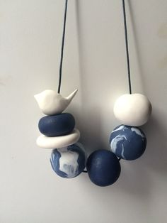 Hand made polymer clay Necklace by PipFrenchDesigns on Etsy