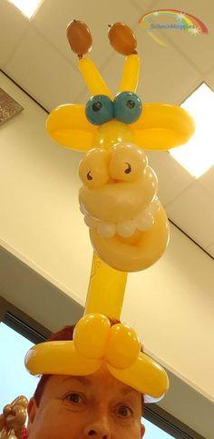 Ballonfiguur Giraffe  Schminkkoppies Mariëlle Heuft
