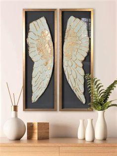 Angel Wings Shadow Box Wall Display