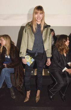 rag & bone - Front Row- Mercedes-Benz Fashion Week Fall 2015 - Celebrity Fashion Trends