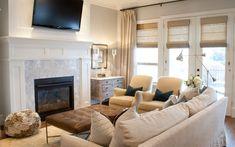 | Ideas para decorar el salón con puffs como mesa de centro