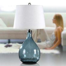 Tafellamp 110-220 v mode Europa Glas tafellampen voor slaapkamer woonkamer H73cm luxe nachtkastje verlichting abajur para quarto(China (Mainland))