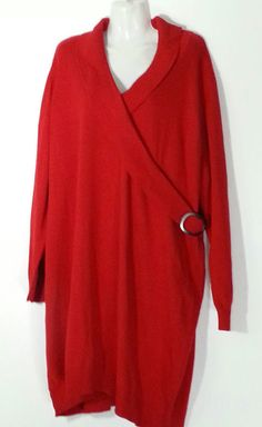 Lane Bryant Red Sweater Dress 3X 26 28 Plus Size Red Dress #LaneBryant #SweaterDress #MULTIPURPOSE