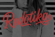 Redotika Font | dafont.com Handwritten Script Font, Typography, Lettering, Type Setting, Handwriting, Illustration, Neon Signs, Public Domain, Author