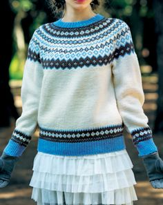knitted sweater pattern in Japanese