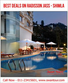 Stay in Some of the Best Hotel Rooms in Shimla - Enjoy a visit surrounded by gorgeous Himalayan vistas, pamper yourself in the on-site spa or indulge in gourmet cuisine for breakfast.. read more. http://www.swantour.com/radisson-Jass-shimla.php