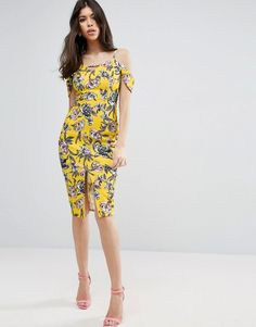 Yellow Asos Midi Dress For Woman At Best Price Compare Dresses Prices From Online S Like Wossel Global