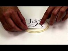 A Simple Way to Hand Paint a Monogram on Gumpaste - YouTube