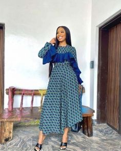 African Maxi Dresses, Latest African Fashion Dresses, African Dresses For Women, African Print Fashion, African Attire, Ankara Fashion, African Prints, African Clothes, Africa Fashion