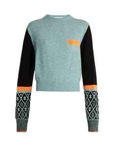 Geometric intarsia-knit wool-blend sweater | Toga | MATCHESFASHION.COM US