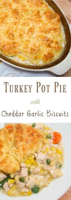Turkey Pot Pie Casserole Dishes, Casserole Recipes, Turkey Casserole, Leftover Turkey Recipes, Turkey Leftovers, Leftovers Recipes, Turkey Dishes, Turkey Meals, Turkey Sausage