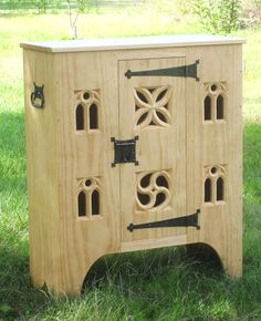 Mac's new aumbry, select pine and steel. It has handles because it will be camp furniture. August 15, 2015 - Robert MacPherson - Picasa Web Albums.