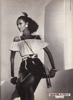 "Iman is known as the world's first black supermodel, and was so coveted in her reign that she served as Yves Saint Laurent's muse for his ""African Queen"" collection. Description from therunwaytimes.com. I searched for this on bing.com/images"