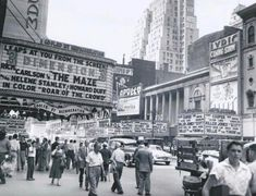 42nd Street off 7th Avenue, 1953 Photograph by M. Donovan Vintage Photographs, Vintage Photos, Nyc Pics, New York City Photos, 42nd Street, Vintage New York, Dream City, Concrete Jungle, City Streets