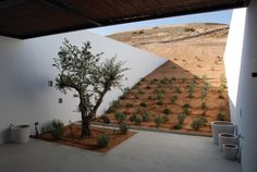 Greek firm deca architecture designed 'aloni' a house located on the greek island of  antiparos. the design of the house is a dual response to the particular topography  of the site and to the rural domestication techniques that in the past shaped the raw 'cycladic island' landscape.
