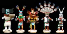 It is a bit of a misnomer to call Kachina figures dolls at all. These stylized icons are a tangible way to teach Hopi children about their religion, and have been serving this purpose for many generations of Hopi Indians. Authentic #KachinaDolls are made from cottonwood root and painted to depict one of the 400 mythical beings in the Hopi religion. http://bit.ly/ydpuvy
