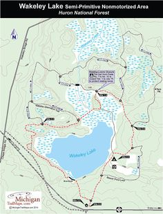 Wakeley Lake, Wakely Lake Semi-Primitive Nonmotorized Area: backcountry camping, fishing, strictly regulated
