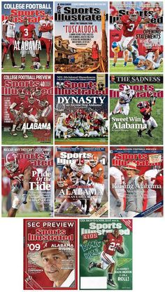 Sports Illustrated Covers with the Tide Alabama College Football, University Of Alabama, American Football, Crimson Tide Football, Alabama Crimson Tide, Bama Fever, Sports Illustrated Covers, Thing 1, Roll Tide