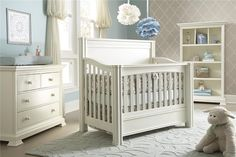 pretty blue and white - can add in darker blues or maybe purple for a boy/girl