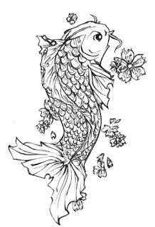 Black and white koi fish tattoo design tattoos for Black and white koi fish