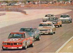 (15) John Fitzpatrick / Rolf Stommelen - BMW 2800 CS - Team Schnitzer Motul - (7) Jackie Stewart / François Cevert - Ford Capri RS 2600 - Ford Köln - (11) Gerry Birrell / Jean-Claude Franck - Ford Capri RS 2600 - Kent International Racing - etc. - Paul Ricard 6 Hours - 1972 European Touring Car Championship, round 7