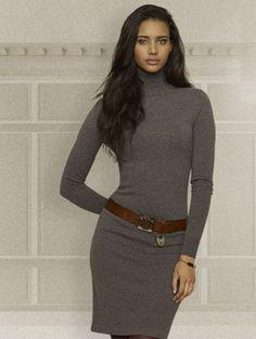 Ralph Lauren cashmere turtleneck dress