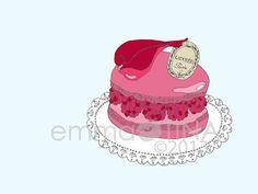 Laduree... Decorative Foodie Illustration Art by emmakisstina, kr80.00