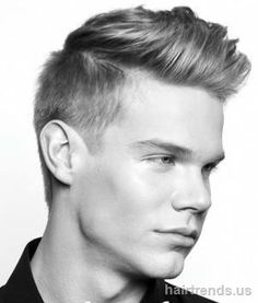 Short men's haircut with shaved sides
