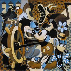 Mickey Mouse - Of Mice and Music - Tim Rogerson - World-Wide-Art.com