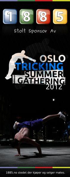 www.1885.no er stolte av å få være med å sponse første gang det skal arrangers tricking gathering i Oslo. Alle er velkommen til å se på trickere battle hverandre. Møt opp på Norges idrettshøgskole fredag 29. juni kl 17:00.