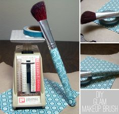 DIY: Glam Makeup Brush An easy, inexpensive way to dress up and personalize your make up brushes