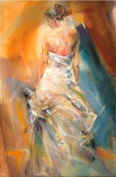 Anna Razumovskaya, The Night Flower, oil on canvas, 40 x 60 in. #EIL