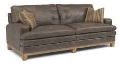 Flexsteel Furniture: Sofas: DenmarkLeather Sofa (1477-31) On our floor now at Furniture Mall of KS.  Awesome distressed look leather.