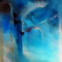 """Wolkenkuckucksheim"" by Annette Schmucker, Fantasy, Painting Acrylic Flowers, Acrylic Art, Modern Art, Contemporary Art, Place Of Worship, Western Art, Art Forms, Art Projects, Abstract Art"