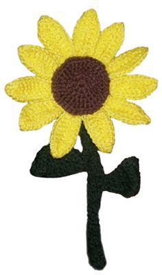 Great for Fall! Another free pattern from The Crochet Spot -- A crochet sunflower!