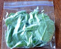 Freezing spinach! Quick Tip for Smoothies