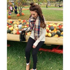 NEW POST ON THE BLOG TODAY! All on thanksgiving! Please like subscribe and share!! Leave me a comment and tell me what you think! www.hellostylesblog.com #ootd #ootn #gammondalefarm #fall #fallfashion #thanksgiving #thanksgivingweekend #love #coffee #starbucks #starbucksmood #blog #blogger #fashionblog #styleblog #ardenelove #topknot #fashion #style #farm #pumpkin #like4like #follow4follow fall fashion oversized scarf pumpkins boots hair medium hair mediumhair