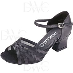 GOGO Dance Open Toe Low Cuban Heel Series features stylish low heel with flexible insole offers ultra comfort.