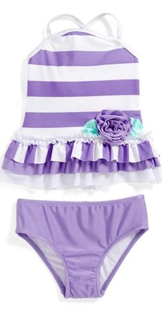 adorable #lavender striped toddler swimsuit http://rstyle.me/n/mttpzr9te