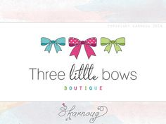 Custom Premade Bow Bows Hand drawn Photography Boutique by karnoug