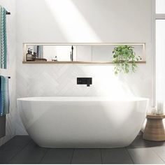 Tired of your small, dark and uninspiring bathroom? Well, there's no better time to give your small bathroom a fresh look. Small bathroom design is finally stepping out of the cookie… Continue Reading → Small Bathroom Tiles, Bathroom Renos, Laundry In Bathroom, Modern Bathroom, Bathroom Ideas, Neutral Bathroom, Shower Bathroom, The Block Bathroom, Skylight Bathroom