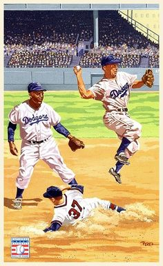 Baseball Live, Baseball Park, Baseball Posters, Dodgers Baseball, Dodgers Nation, Diamonds In The Sky, Baseball Pictures, Moving To Los Angeles, Jackie Robinson