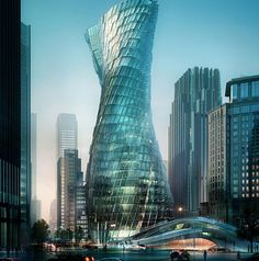 twisting-tower-shanghai. Weilun Xu and Chenyi Zhang from the Tongji University in Shanghai explained their vision for a novel skyscraper for modern China: