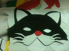 Antifaz de gato de goma eva