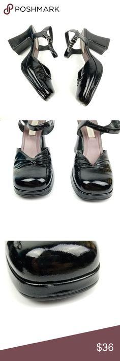 3e036b0cd1c0 90s Mary Jane Platform Heels Faux Leather. Vintage ShoesBlack SandalsMary  ...